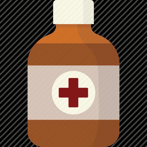 bottle, health, liquid, medical, medication, medicine icon