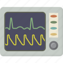 ecg, ekg, medical, monitor, pulse icon