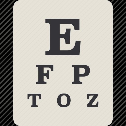 chart, eye, eye chart icon