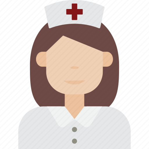 hospital, medical, nurse, woman icon