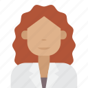 doctor, female, woman icon