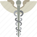 caduceus, medical, medical symbol, sign icon