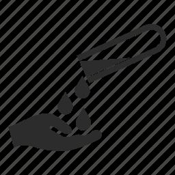 hazardous, material, tool icon
