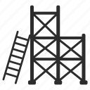 ladder, scaffold, stairs, steps icon