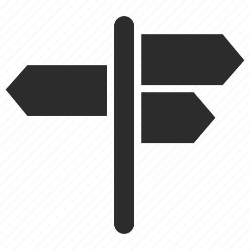 arrows, sign, signposting icon