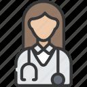 avatar, doctor, female, health, healthcare, medical icon