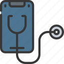 mobile, phone, cell, doctor, health, medical icon