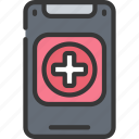mobile, app, phone, cell, health, medical icon