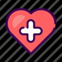 health, healthy, heart, love, medical, medicine, romance icon