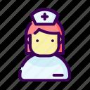doctor, female, girl, healthcare, medical, nurse, woman icon