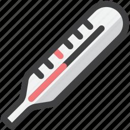 care, fiber, medical, thermometer icon