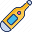 coronavirus, digital, fever, temperature, thermometer, warm icon