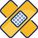 aid, bandage, fracture, healthcare, medicine, patch, plaster icon