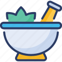 bowl, flowers, healthcare, herbal, medicine, natural, pestle icon