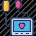 care, device, health, hospital, medical, monitor, sphygmomanometer icon
