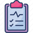 article, ecg, healthcare, hospital, medical, notes, report icon
