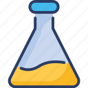 chemical, conical flask, erlenmeyer flask, experiment, lab glassware, volumetric icon