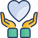 cardiogram, care, charity, hands, health, heart, heart disease icon