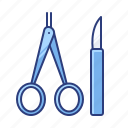 instruments, scalpel, surgery icon