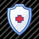 healthcare, protection, shield icon