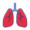 lungs, organ, pulmonologist icon