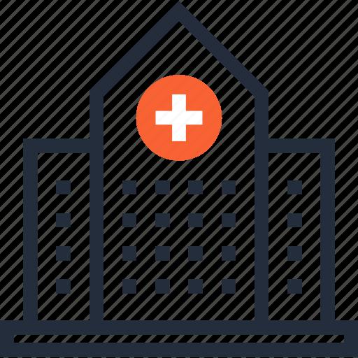 ambulance, building, clinic, construction, emergency, hospital, medicine icon
