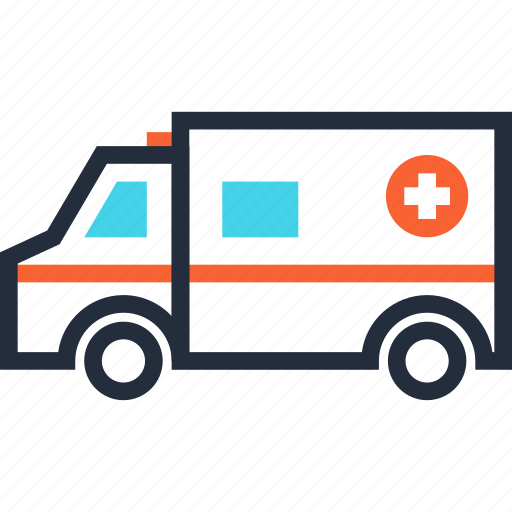 ambulance, car, emergency, hospital, medical, transport, vehicle icon