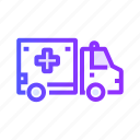 ambulance, transport, transportation, travel, vehicle icon