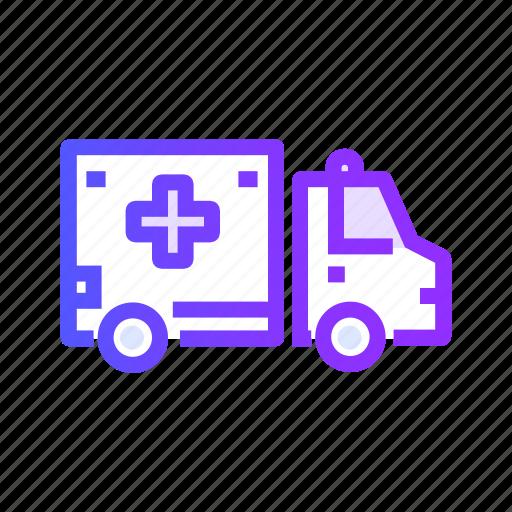 ambulance, transport, transportation, travel, vehicle icon