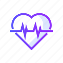 cardiogram, heartbeat, medical, medicine, pulse icon