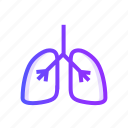 human, lungs, organ, person icon