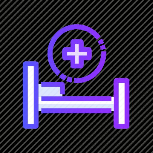 bed, healthcare, hospital, medical, medicine icon