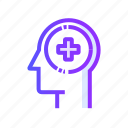 health, healthy, hospital, menatal icon