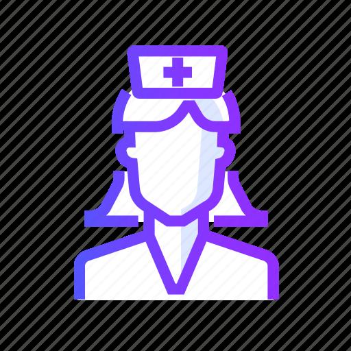 avatar, nurse, people, person icon