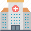address, building, center, clinical, contact, hospital, location icon