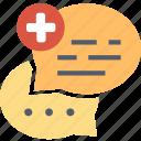 forum, comment, communication, conversation, health, medical, message