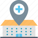 center, find, hospital, location, medical, nearby, place icon