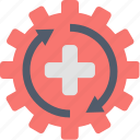equipment, gear, healthcare, medical, medicine, technology, tools icon