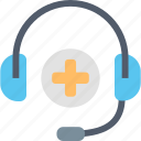 headphones, health, healthcare, help, medical, service, support icon