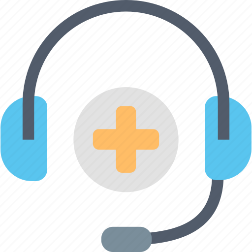 Medical, support, headphones, health, healthcare, help, service icon - Download on Iconfinder