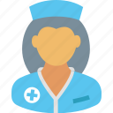 female, healthcare, hospital, medical, nurse, staff, woman icon