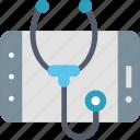 diagnosis, online, internet, medical, mobile, smartphone, stethoscope