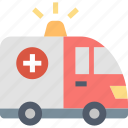 ambulance, emergency, patients, transport, transportation, vehicle icon