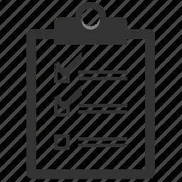 check, check list, checklist, checkmark, diagnosis, diagnostic, diagram, document, exam, graph, health, hospital, list, mark, medical, medicine, parameters, reciept, report, schedule, sheet, test, todo icon