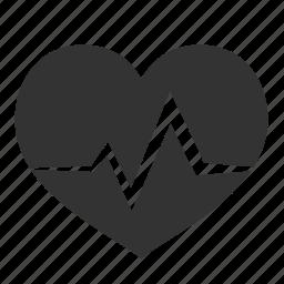 beat, beatmap, bitmap, cardio, cardiogram, care, clinic, doctor, ekg, health, healthcare, healthy, heart, heartbeat, hospital, love, medical, medicine, nurse, pulsation, pulse, rate, record, report, trace icon