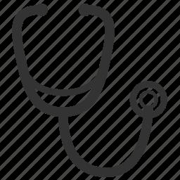 aid, cardiac, care, diagnosis, doctor, exam, health, healthcare, healthy, hospital, listen, med, medical, medical equipment, medicine, nurse, pulse, stethoscope, tool, tools, vintage icon