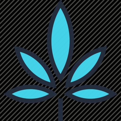 cannabis, drug, hemp, leaf, medical, natural, plant icon
