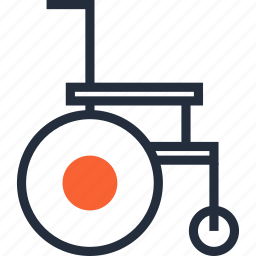 carriage, chair, disabled, handicap, healthcare, invalid, wheelchair icon