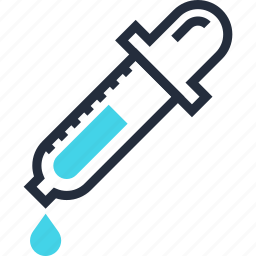 dropper, eye, eyedropper, medicine, picker, pipette, tool icon