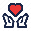 care, donation, give, health, healthcare, heart, medical icon